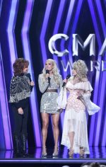 Carrie Underwood In Nicole And Felicia @ 2019 CMA Awards