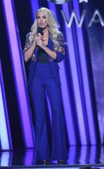 Carrie Underwood In Any OldIron Suit @  2019 CMA Awards