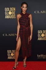 Laura Harrier In Alutzarra @ HFPA & The Hollywood Reporter's 2020 Golden Globe Awards Season  Unveiling