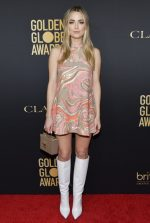 Rebecca Rittenhouse In Mulberry @   Golden Globe Ambassador Launch Party In LA