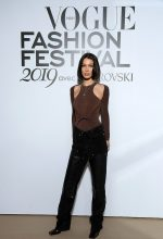 Bella Hadid In Alexander Wang @  Vogue Fashion Festival 2019 Photocall in Paris