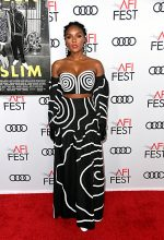Janelle Monáe In Mara Hoffman @ The 'Queen & Slim' LA Premiere