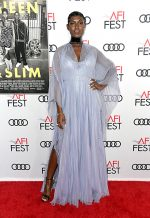 Jodie Turner-Smith  In Gucci @ The 'Queen & Slim' LA Premiere