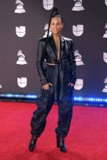 Alicia Keys In Off -White Jumpsuit  @ 2019 Latin Grammy Awards