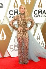 Carrie Underwood In Yas Couture By Elie Madi  @ 2019 CMA Awards