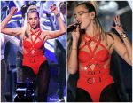 Dua Lipa Performs  In Versace @ 2019 American Music Awards