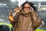 Rihanna Rocked  A Fenty Coat & Louis Vuitton Purse  @ Italian Soccer Game