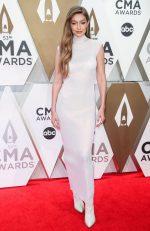 Gigi Hadid In Helmut Lang  @ 2019 CMA Awards Redcarpet
