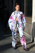 Halsey In Printed Outfit  Exits BBC Live Lounge in London