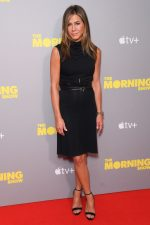 "Jennifer Aniston In  Black  Dress @ ""The Morning Show"" Screening in London"