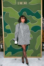 Kat Graham  Rocks Shirt Dress @  Dior Holiday Takeover Bergdorf Goodman in New York