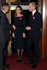 Catherine, Duchess of Cambridge  In Navy Dress @  2019 Royal British Legion Festival Of Remembrance In London