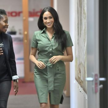 meghan-markle-in-cargo-green-dress-actionaid-discussion-university-of-johannesburg
