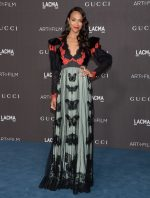 Zoe Saldana In  Gucci @  2019 Lacma Art + Film Gala Presented by Gucci