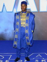 "John Boyega In Blue Agbada Design @ ""Star Wars: The Rise Of Skywalker"" London Premiere"