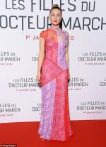 Saoirse Ronan In  Galvan @  The 'Little Women' Paris Premiere