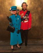 Chrissy Teigen & John Legend As Queen Elizabeth and Prince Phillip
