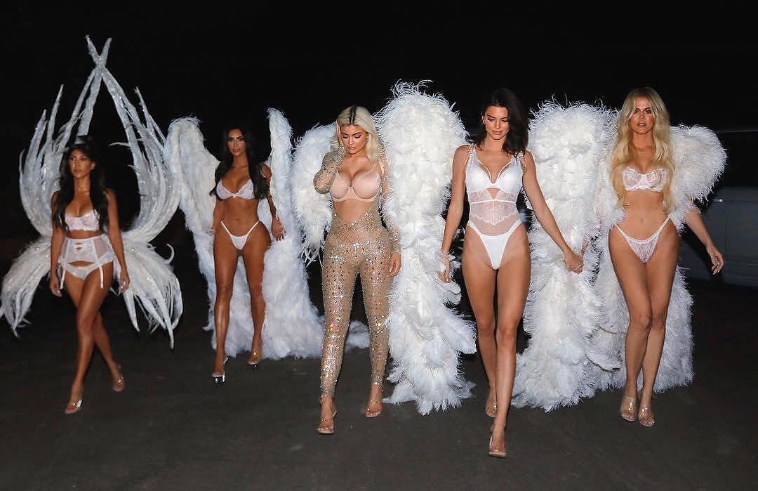 kim-kardashian-khloe-kardashian-kourtney-kardashian-kylie-jenner-kendall-jenner-as-victorias-secret-angels