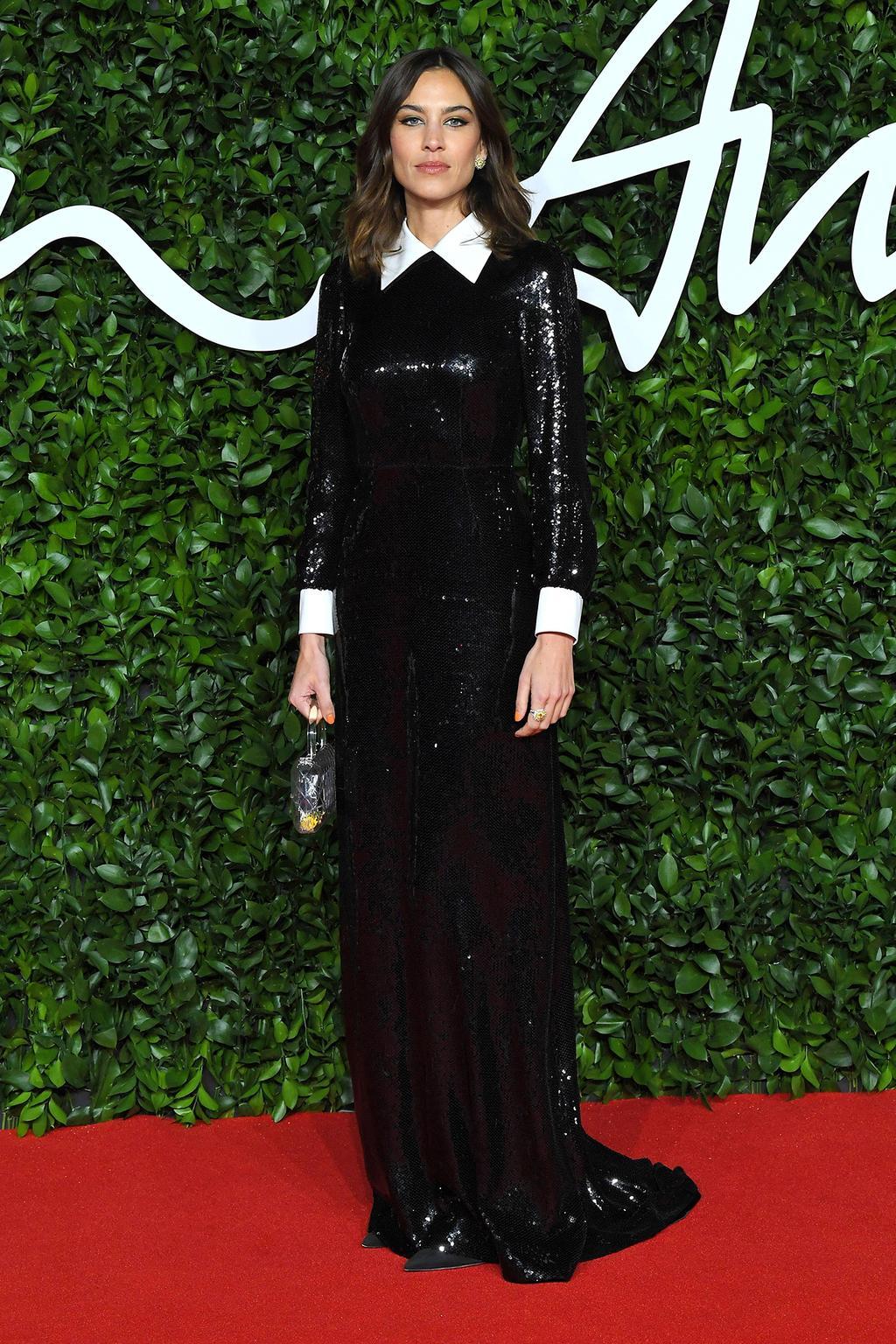 alexa-chung-wearing-alexachung-2019-british-fashion-council-awards