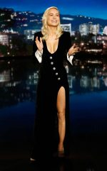 Brie Larson In Alessandra Rich  @ Jimmy Kimmel Live!