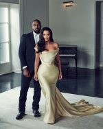 Kim Kardashian & Kanye West  Attends Sean Combs 50th Birthday Party