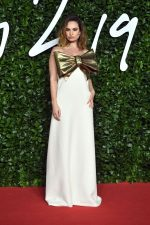 Lily James In Valentino Couture  @ 2019 British Fashion Awards In London