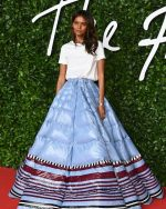 Liya Kebede In Moncler 1 Pierpaolo Piccioli  @   2019 British Fashion Council Awards