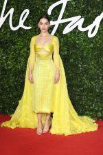 Emilia Clarke In Schiaparelli Haute Couture  @ 2019 The Fashion Awards