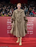 Tilda Swinton   In Loewe Coat @ The 'Snowpiercer' Marrakech Film Festival Screening