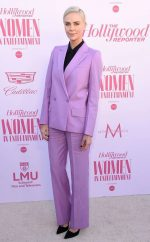 Charlize Theron In  Givenchy Suit @   2019 The Hollywood Reporter  Women in Entertainment Breakfast Gala