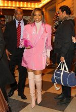 "Jennifer Hudson in Pink Blazer Dress  @ ""Cats ' Promo   In New York"