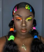 "Neon  Eyeshadow  ""Stack Of 7""  By ""House Of Sizzle ""Cosmetics"