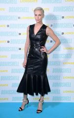"""Charlize Theron In Alexander McQueen  @  """"Bombshell""""  London Screening and Q&A"""