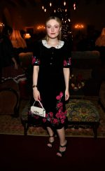 "Dakota Fanning In Velvet Dress @ ""Eat The Sun"" by Floria Sigismondi Book Party in LA"