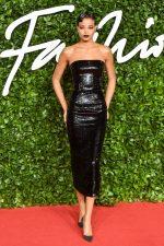 Ella Balinska  In Armani Prive @ 2019 British Fashion Council Awards