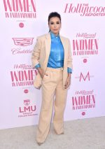 Eva Longoria  In Victoria Beckham  Suit @ 2019  Hollywood Reporter's  Women in Entertainment Breakfast Gala
