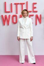 Greta Gerwig In Paul Smith Suit  @ Little Women London Premiere