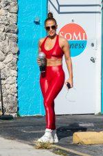 Jennifer Lopez  In Carbon 38 Sports Bra and Leggings – In Miami