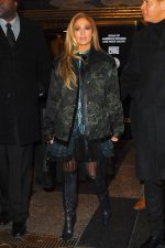 Jennifer Lopez  In Coach 1941 Coat   @ After Saturday Night Live Rehearsals in New York