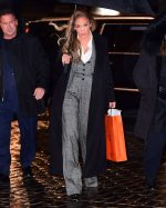 Jennifer Lopez In Dolce & Gabbana @  Out in New York