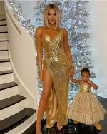 Khloe Kardashian & True Thompson In  Bryan Hearns  @ Christmas 2019