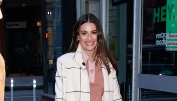 lea-michele-in-nanushka-agnes-arrives-at-build-series-in-new-york-city