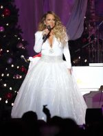 "Mariah Carey In White Gown @ ""All I Want For Christmas Is You"" Tour  in New York"
