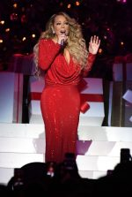 "Mariah Carey In A Red Gown @  ""All I Want For Christmas Is You""  Tour In  New York"