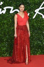 Nathalie Emmanuel  In Preen  @  2019 British Fashion Council Awards