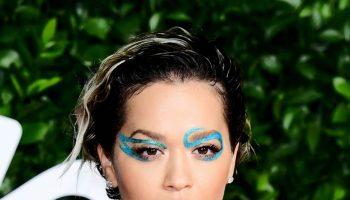 rita-ora-wears-blue-glitter-eyes-makeup-2019-british-fashion-awards