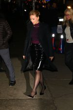 Scarlett Johansson In Versace @  Outside The Late Show With Stephen Colbert
