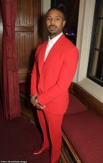 Michael B Jordan In  Prabal Gurung @ An Evening At The House Of Lords For 'Just Mercy'