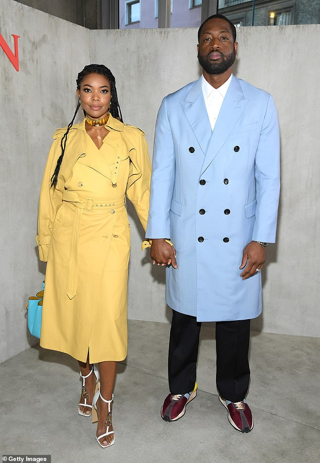 gabrielle-union-dwyane-wade-lanvin-menswear-fall-winter-2020-2021-show