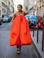 Gabrielle Union In  Christopher John Rogers  @ Menswear Fashion Week In Paris